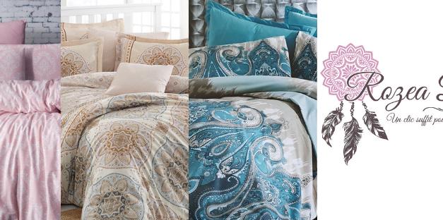 Un clic suffit pour sublimer vos nuits avec les parures de lit Rozea Déco